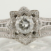 0.73 ct. Round Cut Bridal Set Ring #1