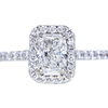 1.00 ct. Radiant Cut Halo Ring, G, SI2 #3