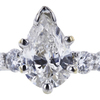 1.00 ct. Pear Cut Solitaire Ring, G, I1 #1