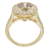 2.96 ct. Round Cut Halo Ring, M-Z, SI1 #4