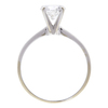 1.1 ct. Round Cut Solitaire Ring, F, I1 #4