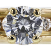 1.08 ct. Round Cut Bridal Set Ring, I, I1 #4