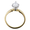 1.09 ct. Marquise Cut Bridal Set Ring, F, SI2 #2
