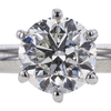 1.01 ct. Round Cut Solitaire Ring, G, SI2 #1