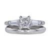 0.76 ct. Princess Cut Bridal Set Ring, G, VS2 #3