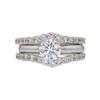 1.0 ct. Round Modified Brilliant Cut Bridal Set Ring, H, SI2 #3