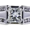 0.85 ct. Princess Cut Solitaire Ring, I-J, VVS1-VVS2 #1