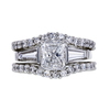 1.11 ct. Radiant Cut Bridal Set Ring, D, SI2 #2