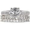 1.28 ct. Round Cut Bridal Set Ring, H-I, I2 #1