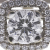 1.0 ct. Round Modified Brilliant Cut Halo Ring, H, SI1 #4