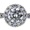 0.91 ct. Round Cut Bridal Set Ring, F, SI1 #4