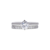 0.64 ct. Round Cut Bridal Set Ring, E, SI1 #3