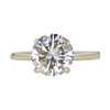 3.06 ct. Round Cut Solitaire Ring, M-Z, I2 #3