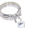 1.01 ct. Princess Cut Bridal Set Ring #3