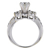 0.72 ct. Round Cut Bridal Set Ring, G, SI2 #3