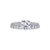 1.26 ct. Round Cut Bridal Set Ring, G, SI1 #3