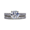 1.37 ct. Round Cut Bridal Set Ring, F, I1 #3
