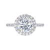 1.73 ct. Round Cut Halo Ring, I-J, I3 #2