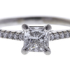 0.7 ct. Princess Cut Bridal Set Ring, F, VS1 #4