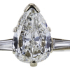 1.19 ct. Pear Cut Solitaire Ring, G, SI2 #4