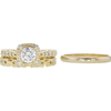 0.58 ct. Round Cut Bridal Set Ring, F, VS1 #3