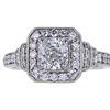 1.01 ct. Cushion Cut Halo Ring, E, SI2 #3