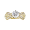 1.28 ct. Round Cut Solitaire Ring, F, SI2 #3
