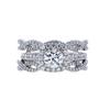 0.70 ct. Round Cut Bridal Set Ring, D, SI2 #3