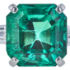3.23 ct. Emerald Cut Solitaire Ring, Green, SI2-I1 #1