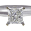 1.01 ct. Princess Cut Solitaire Ring, J, SI2 #4