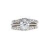 1.01 ct. Round Cut Bridal Set Ring, G, SI1 #3