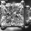 1.02 ct. Princess Cut 3 Stone Ring #2