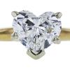 1.01 ct. Heart Cut Bridal Set Ring, H, I1 #4