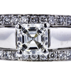 1.01 ct. Asscher Cut Bridal Set Ring, H, VS2 #4