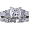 1.11 ct. Princess Cut Bridal Set Ring #1