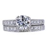 1.01 ct. Round Cut Bridal Set Ring, G, I1 #3