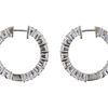 Round Cut Hoops Earrings, G-H, VS2-SI1 #1