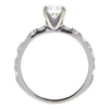0.93 ct. Round Cut Solitaire Ring, H, VVS2 #4