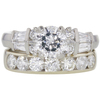 1.22 ct. Round Modified Brilliant Cut Bridal Set Ring, G, SI2 #3