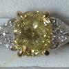 2.41 ct. Cushion Cut 3 Stone Ring #1