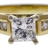 0.72 ct. Princess Cut Solitaire Ring, E, VS2 #4