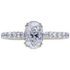 1.00 ct. Oval Cut Solitaire Ring, E, SI1 #3