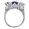 1.58 ct. Round Cut 3 Stone Ring, Blue, SI1-SI2 #3