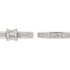 0.92 ct. Princess Cut Bridal Set Ring, I, SI2 #2