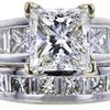 3.01 ct. Princess Cut Bridal Set Ring, I, SI1 #4