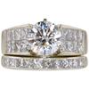 1.6 ct. Round Cut Bridal Set Ring, F, SI1 #3