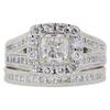 0.96 ct. Cushion Cut Bridal Set Ring, F, I1 #3