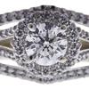 0.93 ct. Round Cut Bridal Set Ring, F, I1 #4