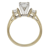 0.66 ct. Princess Cut Bridal Set Ring, D, VS2 #2