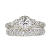 0.96 ct. Round Cut Bridal Set Ring, G-H, SI2 #2